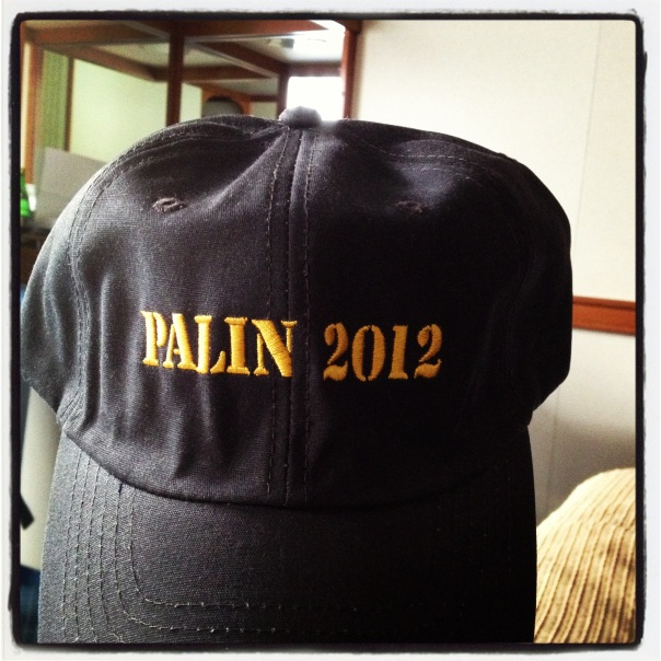 Palin 2012 two for one hats.