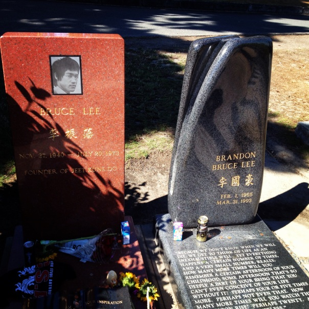 Bruce and Brand Lee's cemetery.