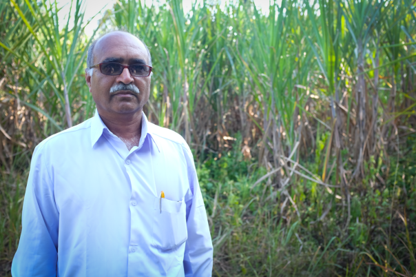 This is a farmer. He owns the land that the cane grows on.